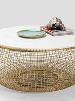KARE DESIGN Coffee Table Cesta Marble Gold Ø100cm