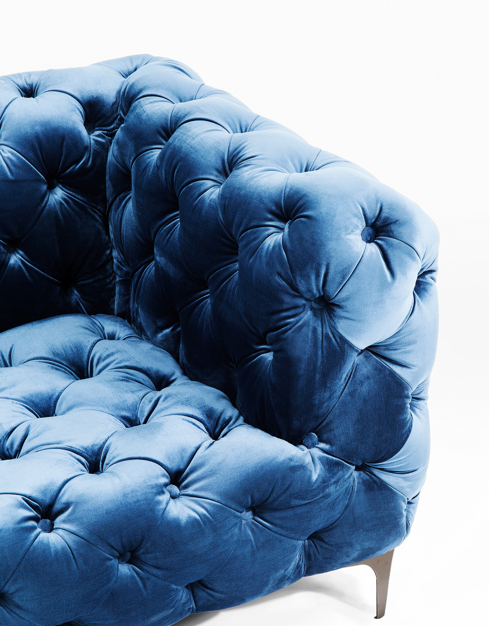 KARE DESIGN Sofa Look 180cm Velvet Blue