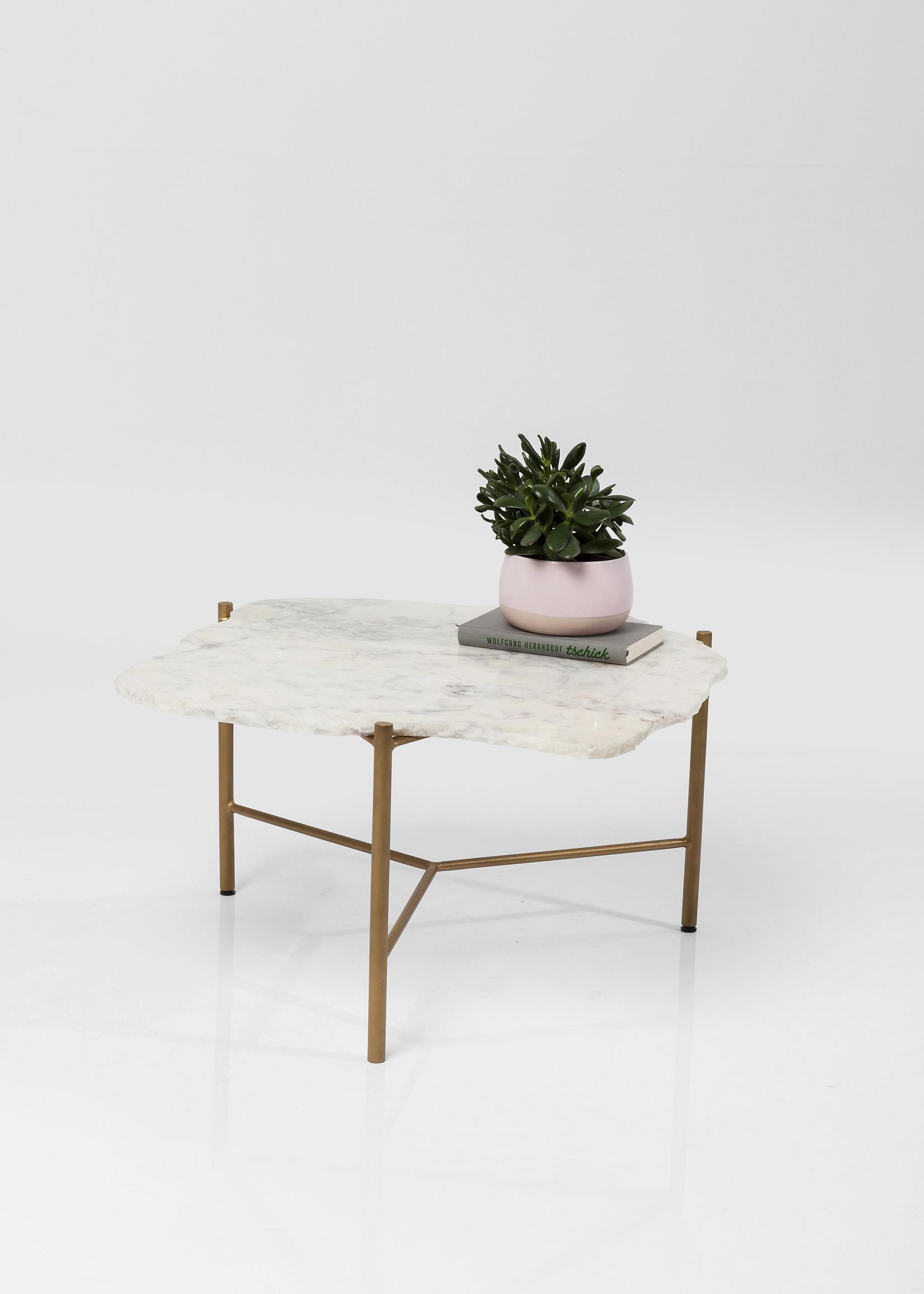 KARE DESIGN Coffee Table Piedra White 76x72cm