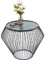 KARE DESIGN Side Table Beam Green Marble Black Ø40cm