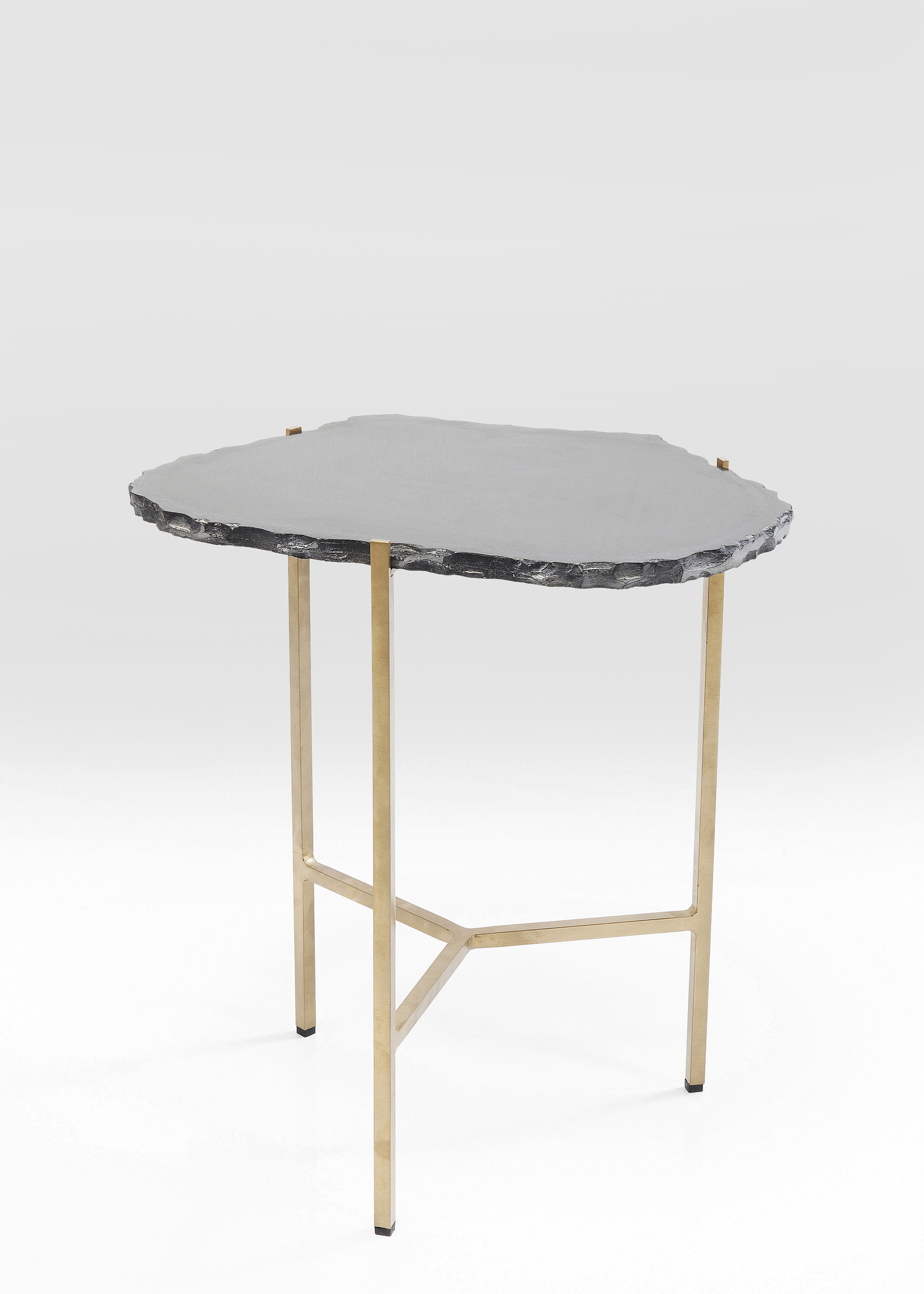 KARE DESIGN Side Table Piedra Black 50x45cm