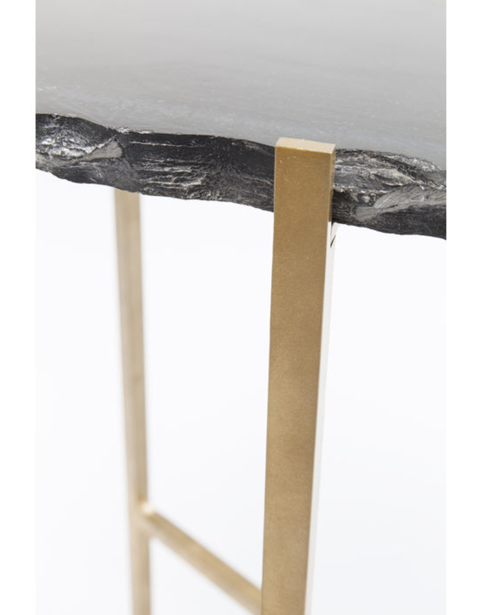 KARE DESIGN Side Table Piedra Black 50x45cm