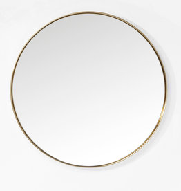 KARE DESIGN Mirror Curve Round Brass Ø100cm