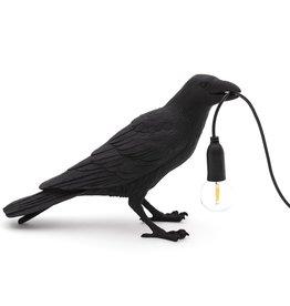 "Selletti ""BIRD LAMP"" WAITING - tafellamp, zwart"