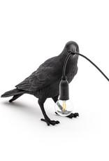 "Seletti ""BIRD LAMP"" RESIN LAMP Cm.29,5x12 h.18,5 - WAITING BLACK"