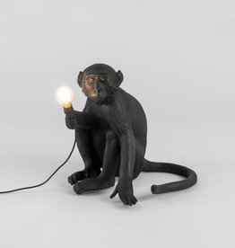 "Seletti ""MONKEY LAMP""  SITTING - BLACK"