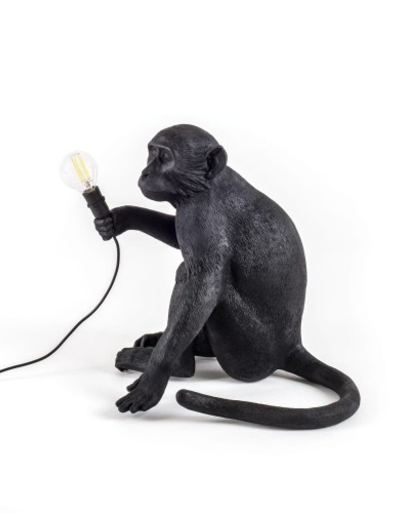 "Seletti ""MONKEY LAMP-OUTDOOR""  SITTING - BLACK"