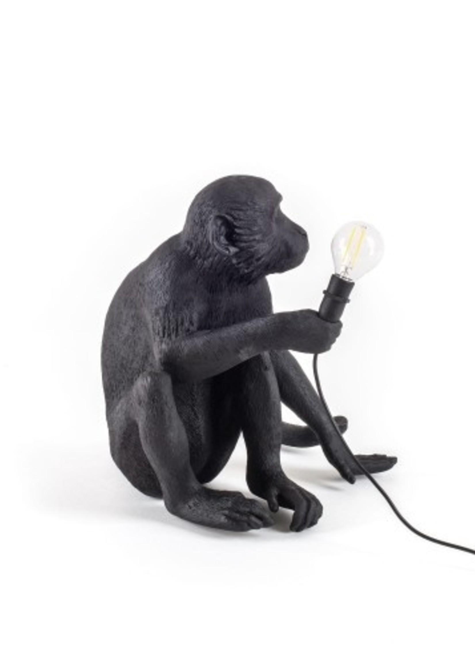 "Seletti ""MONKEY LAMP-OUTDOOR""  SITTING - BLACK"