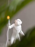 "Seletti ""MONKEY LAMP"" STANDING, WHITE"