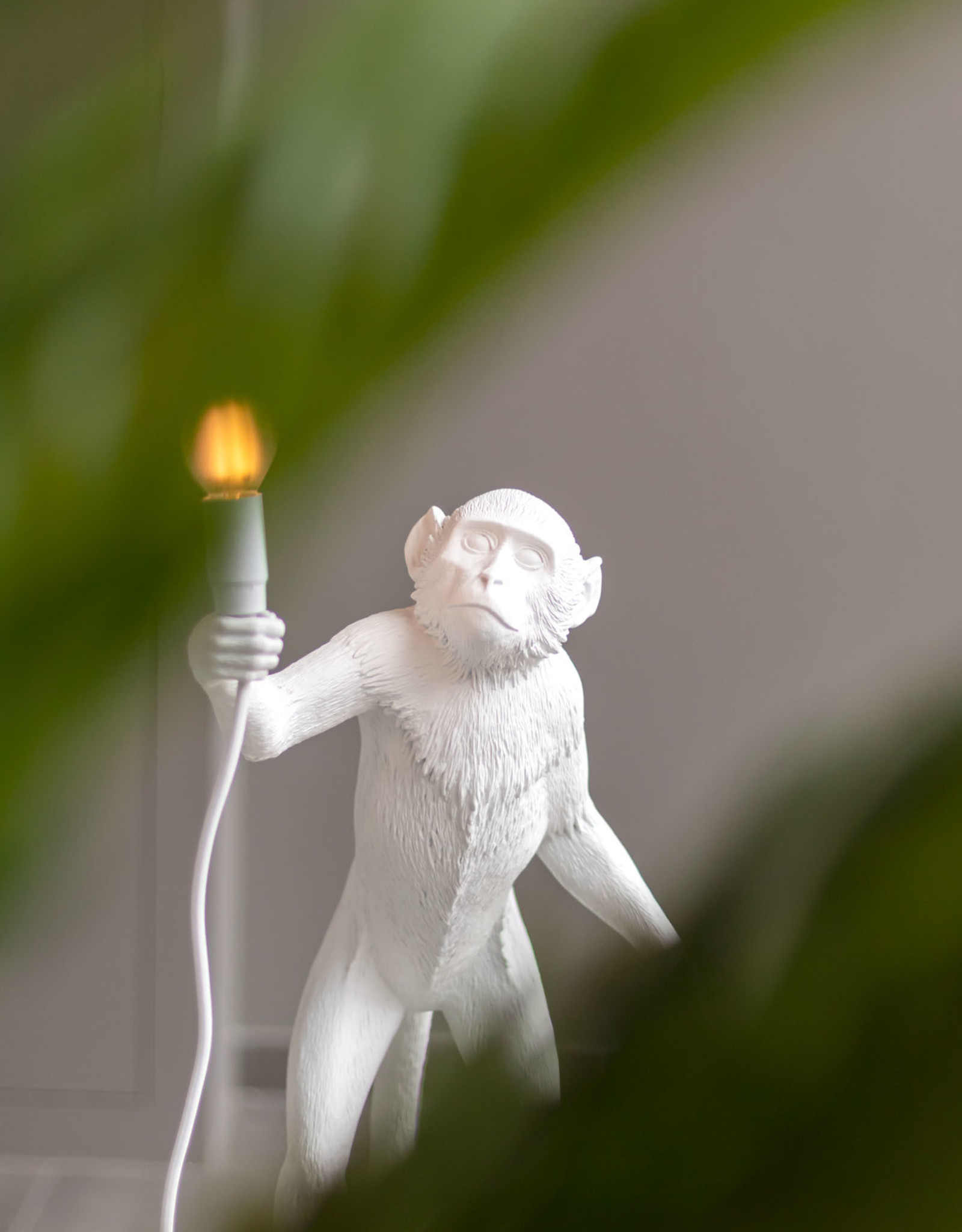 "Seletti ""MONKEY LAMP"" STANDING, WHITE by Seletti"