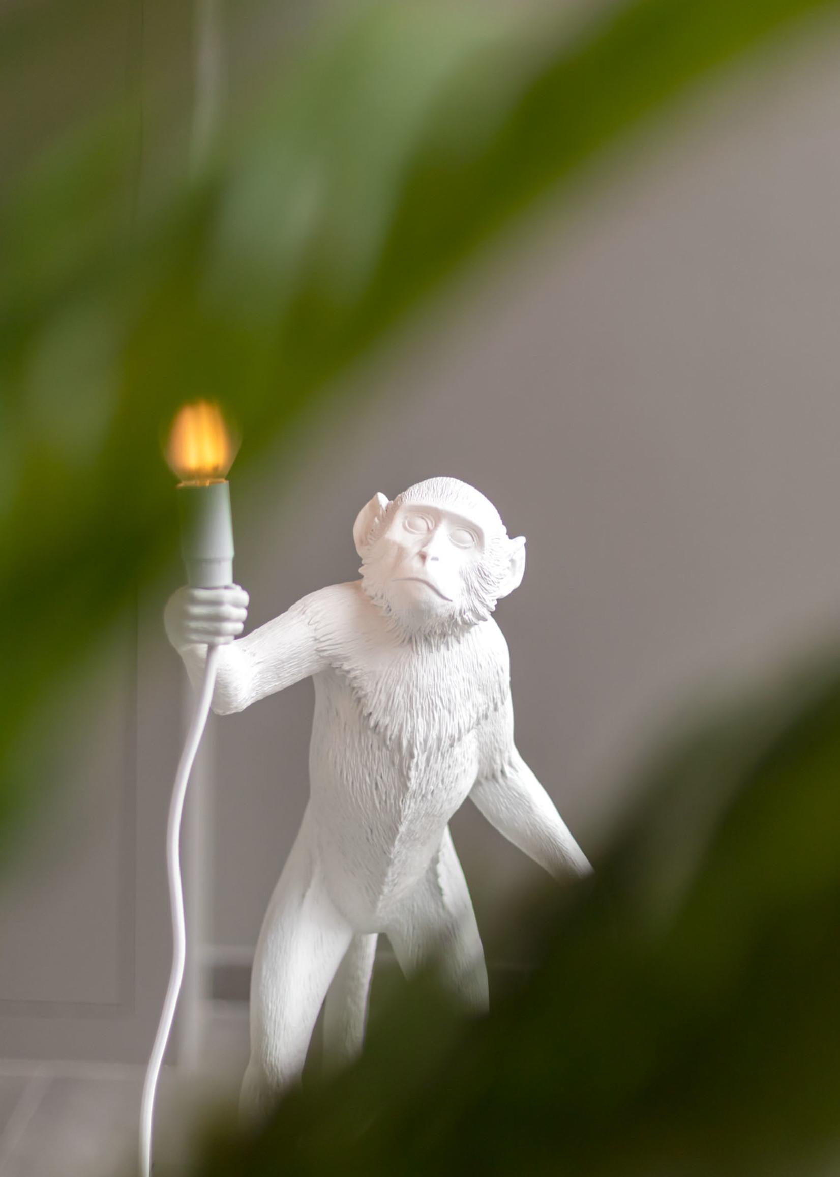 "Seletti ""MONKEY LAMP"" STANDING, WHITE by Seletti"