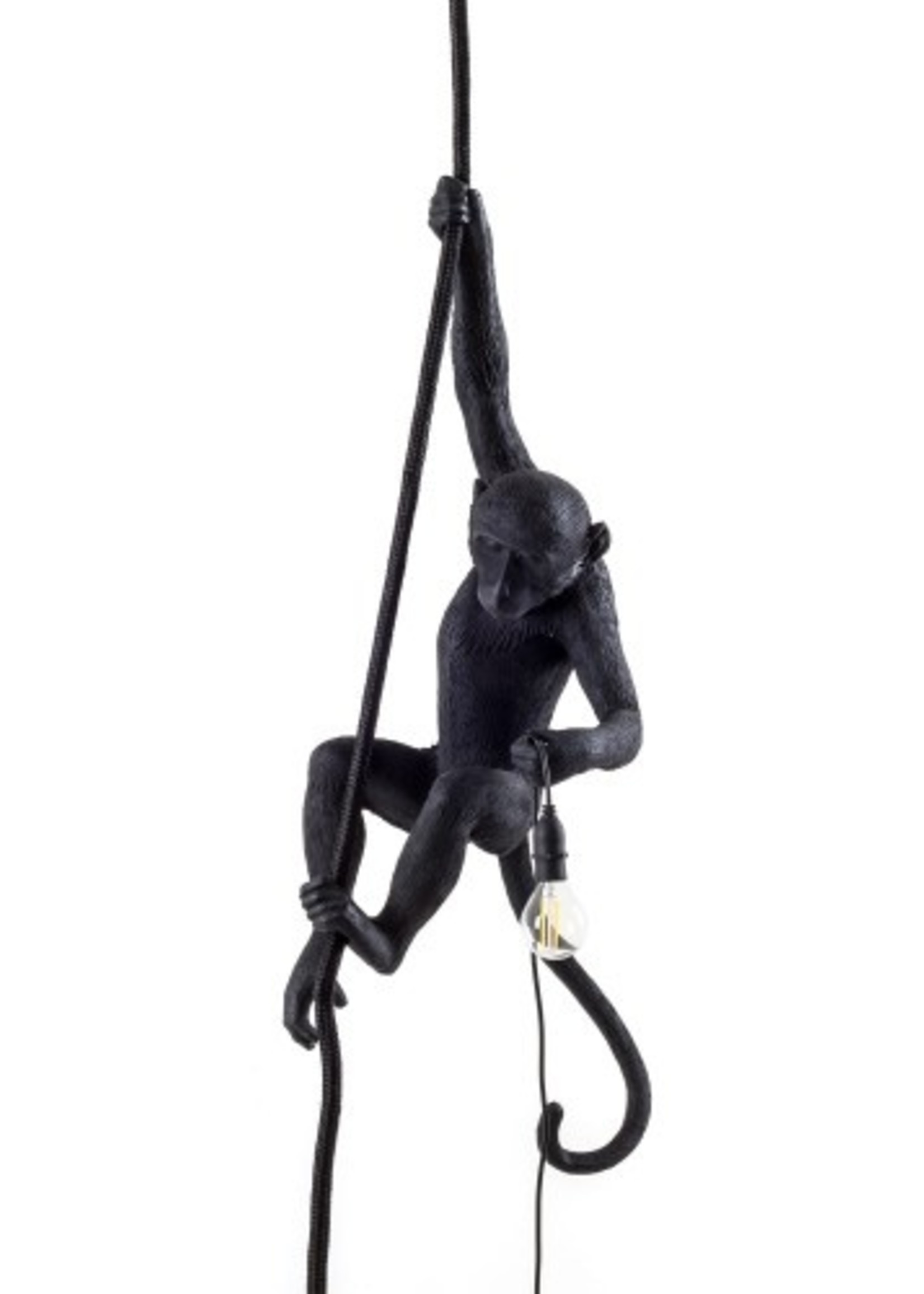 """Seletti """"MONKEY LAMP-OUTDOOR""""  WITH ROPE - BLACK"""