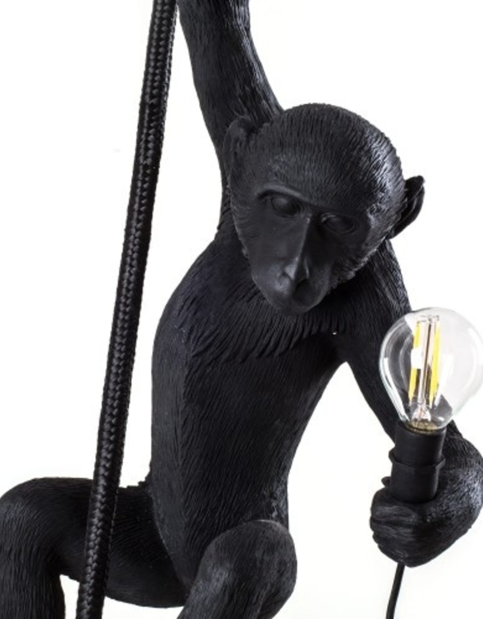 "Seletti ""MONKEY LAMP-OUTDOOR""  WITH ROPE - BLACK"
