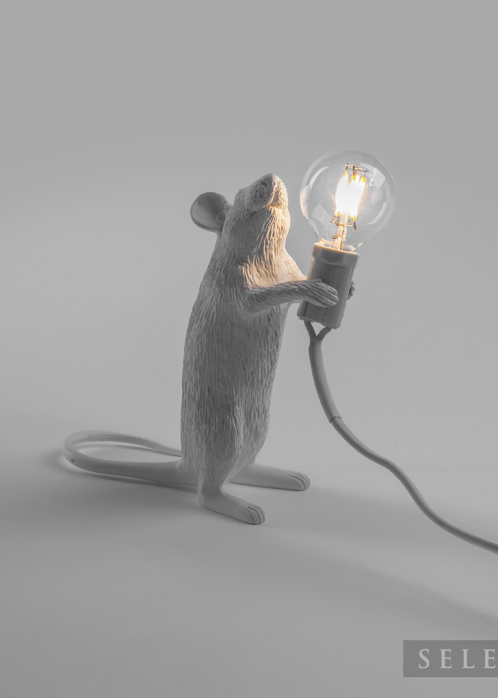 """Seletti """"MOUSE LAMP-STEP""""  - STANDING WHITE by Seletti"""