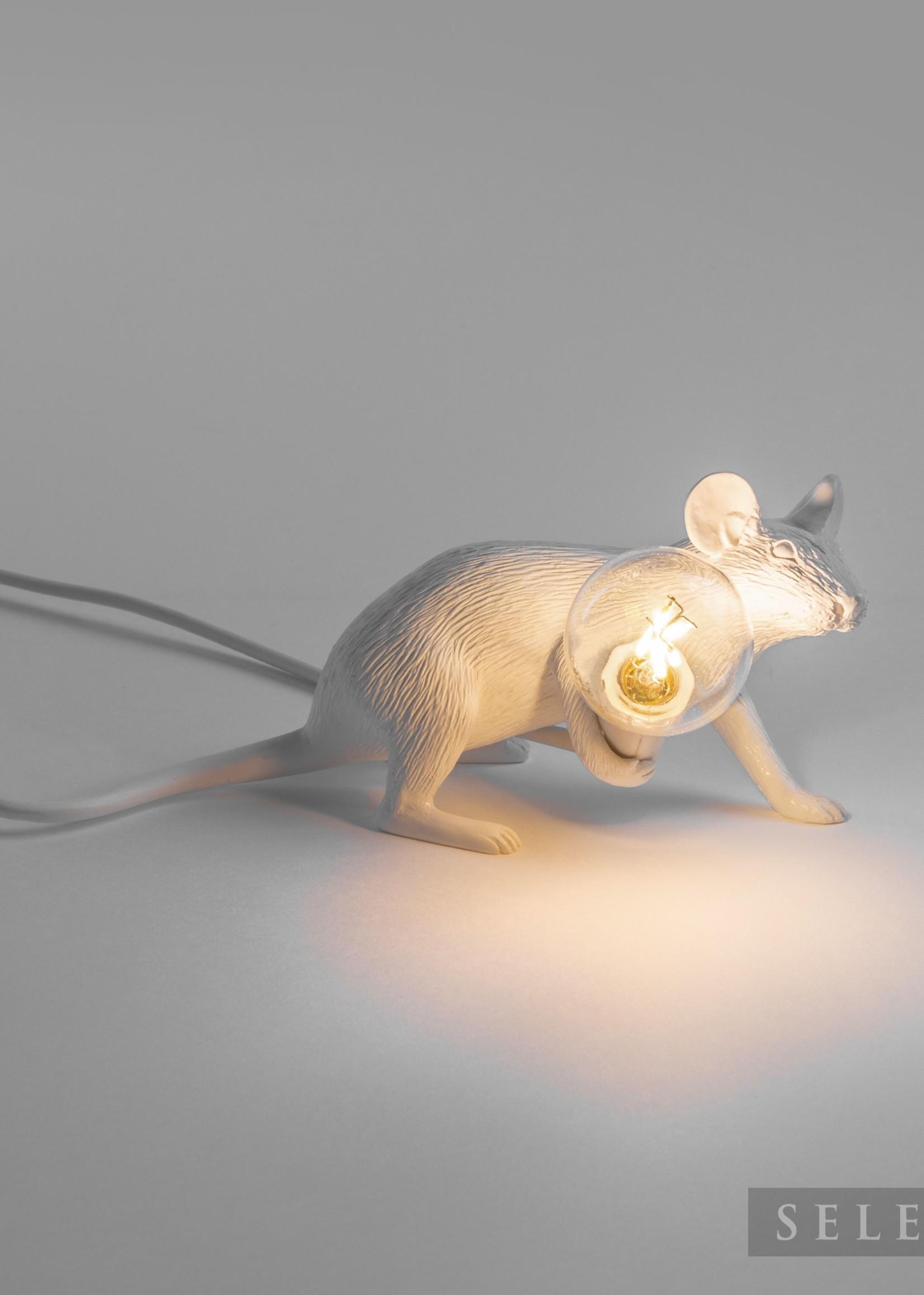 "Seletti ""MOUSE LAMP#3-LOP""  LAMP LIE DOWN - WHITE by Seletti"