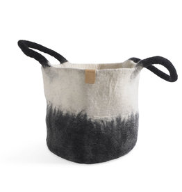 aveva WOOL BASKET, black/white