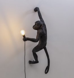 Seletti MONKEY LAMP- HANGING RIGHT HAND-BLACK