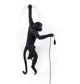 Seletti MONKEY LAMP, RESIN- HANGING LEFT HAND-BLACK