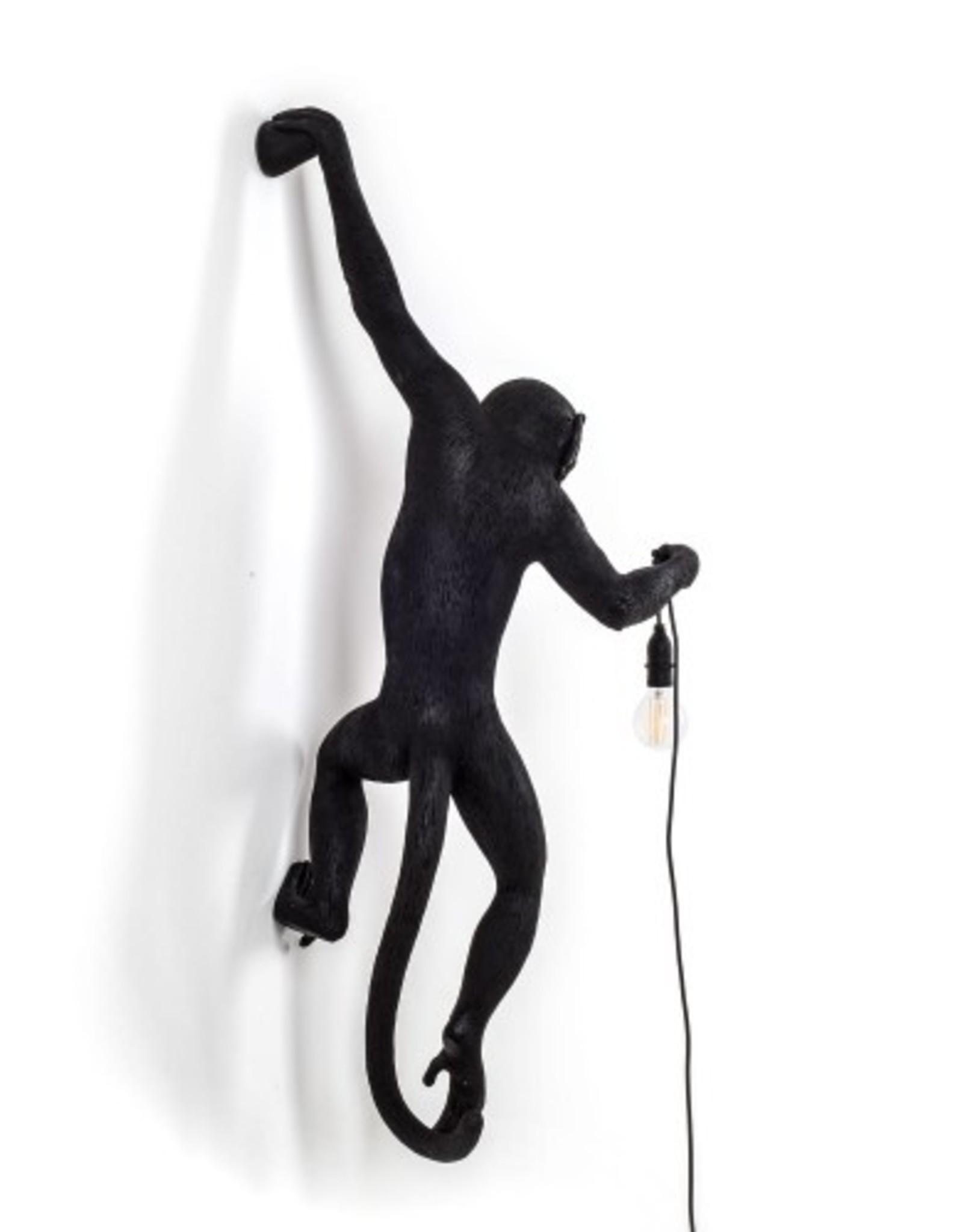 Seletti MONKEY LAMP, RESIN, Cm.37x20,5h.76,5- HANGING LEFT HAND-BLACK
