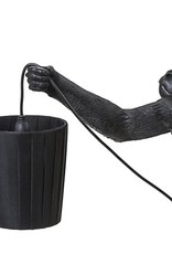 "Seletti METAL LAMPSHADE AND POLYESTER ""MONKEY LAMP"" ø Cm.8,5/11 h.12,3 - BLACK"