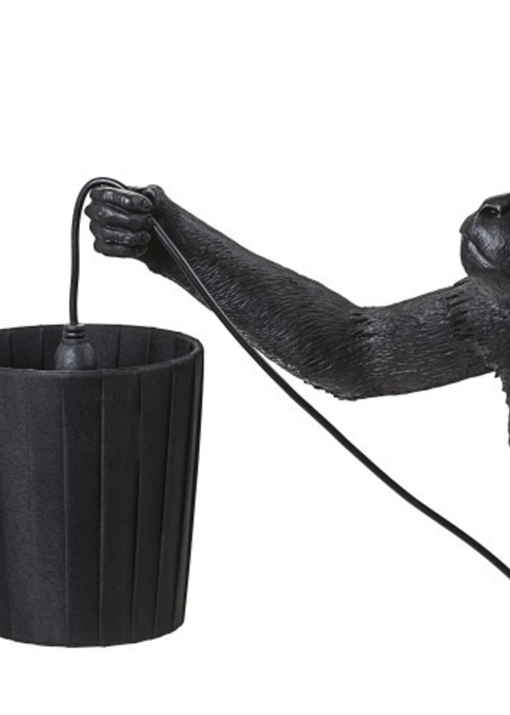 """Seletti LAMPSHADE METAL AND POLYESTER """"MONKEY LAMP"""" ø Cm.8,5/11 h.12,3 - BLACK"""