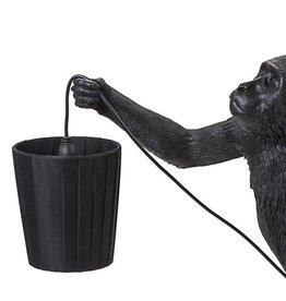 "Seletti METAL LAMPSHADE AND POLYESTER ""MONKEY LAMP"" - BLACK"