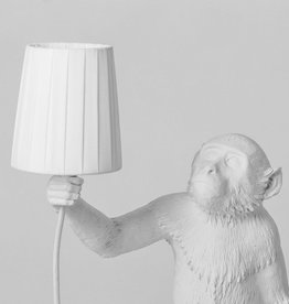"Seletti METAL LAMPSHADE AND POLYESTER ""MONKEY LAMP"" - WHITE"