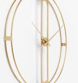 KARE DESIGN Wall Clock Clip Gold Ø107cm