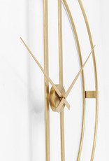 KARE DESIGN Wall Clock Clip Gold Ø107cm