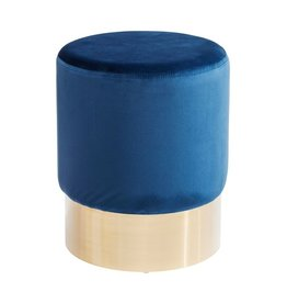 KARE DESIGN Stool Cherry Blue Brass Ø35cm