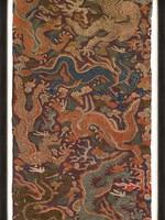 MINDTHEGAP DRAGONS CHASING PEARLS, 60x110, linen
