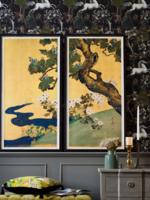 MINDTHEGAP PAULOWNIAS AND CHRYSANTHEMUMS , 60 x 120cm