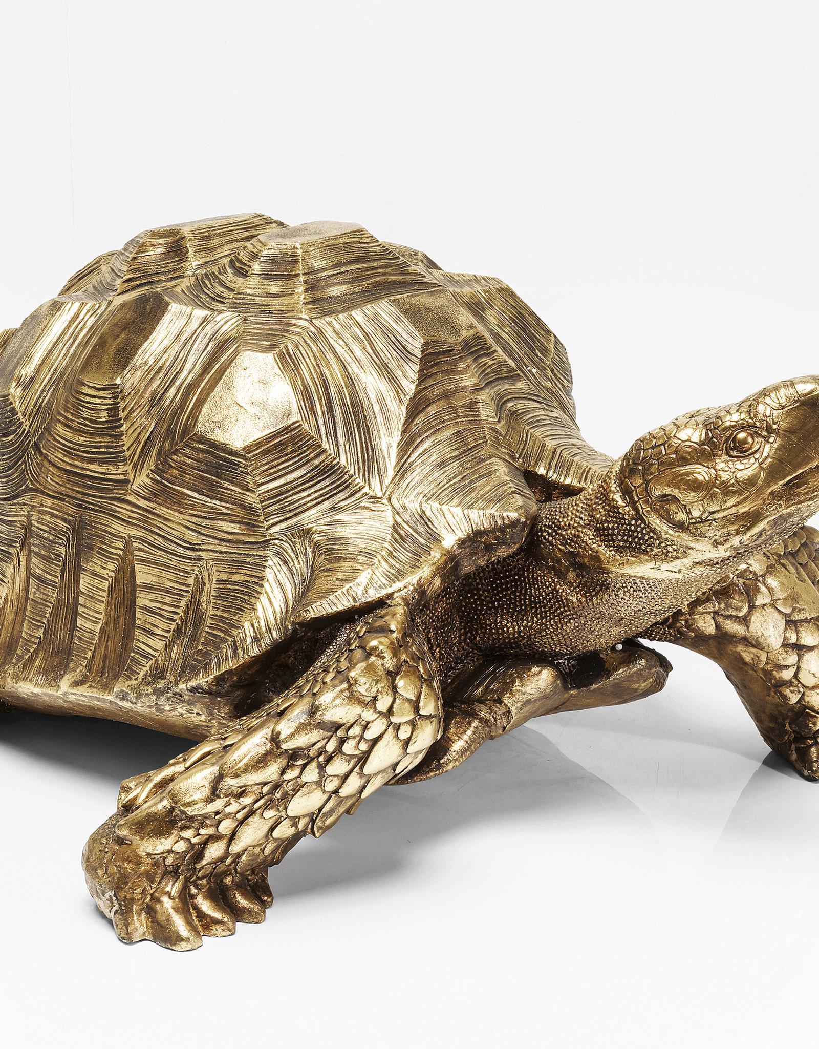 KARE DESIGN Deco Figurine Turtle Gold Big
