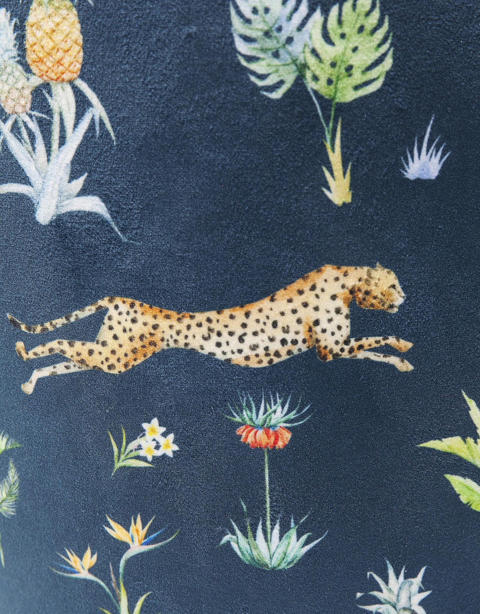 KARE DESIGN Stool Cherry Jungle Leopard Gold Ø35cm