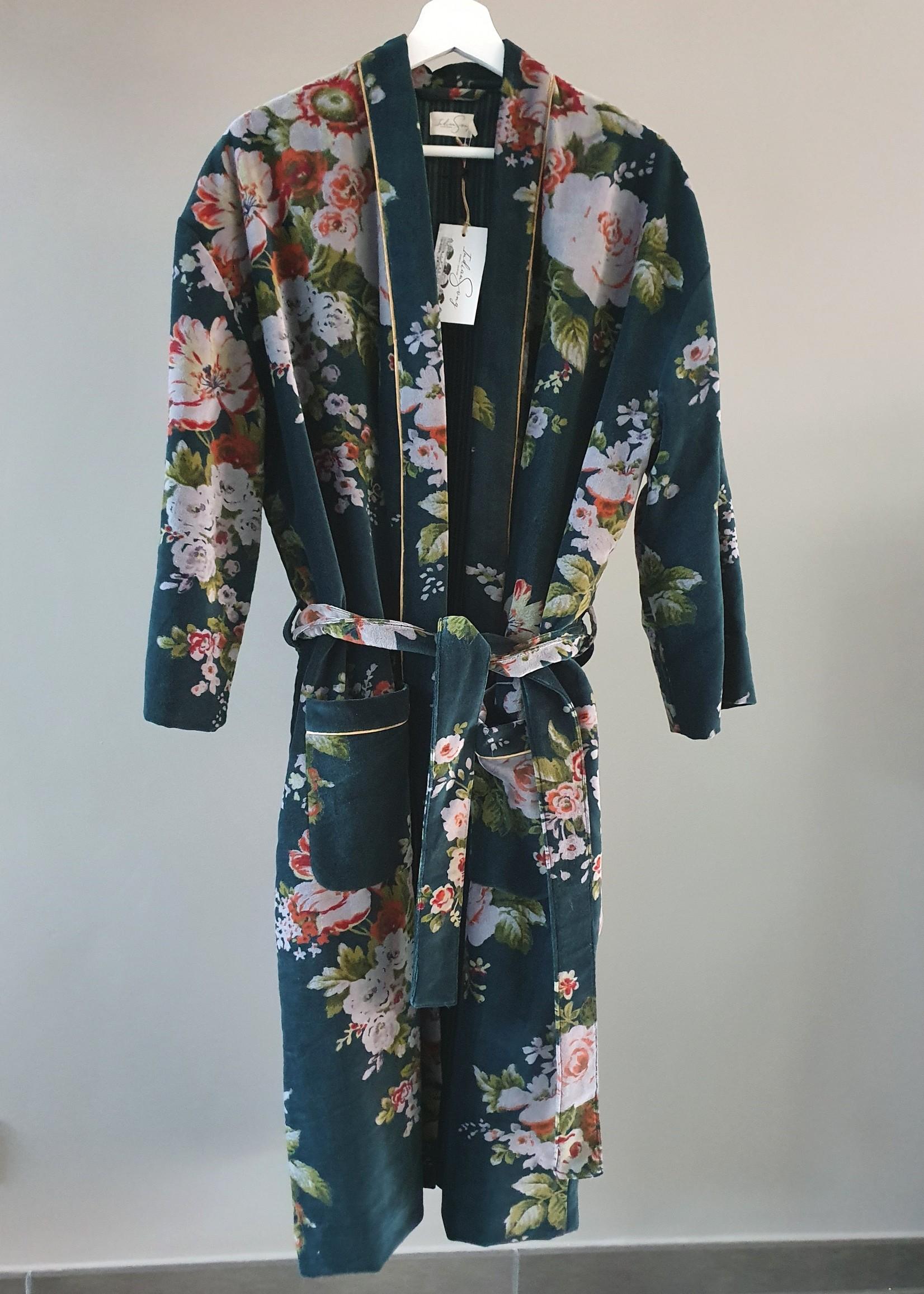BANGALORE Kimono velours CANARD