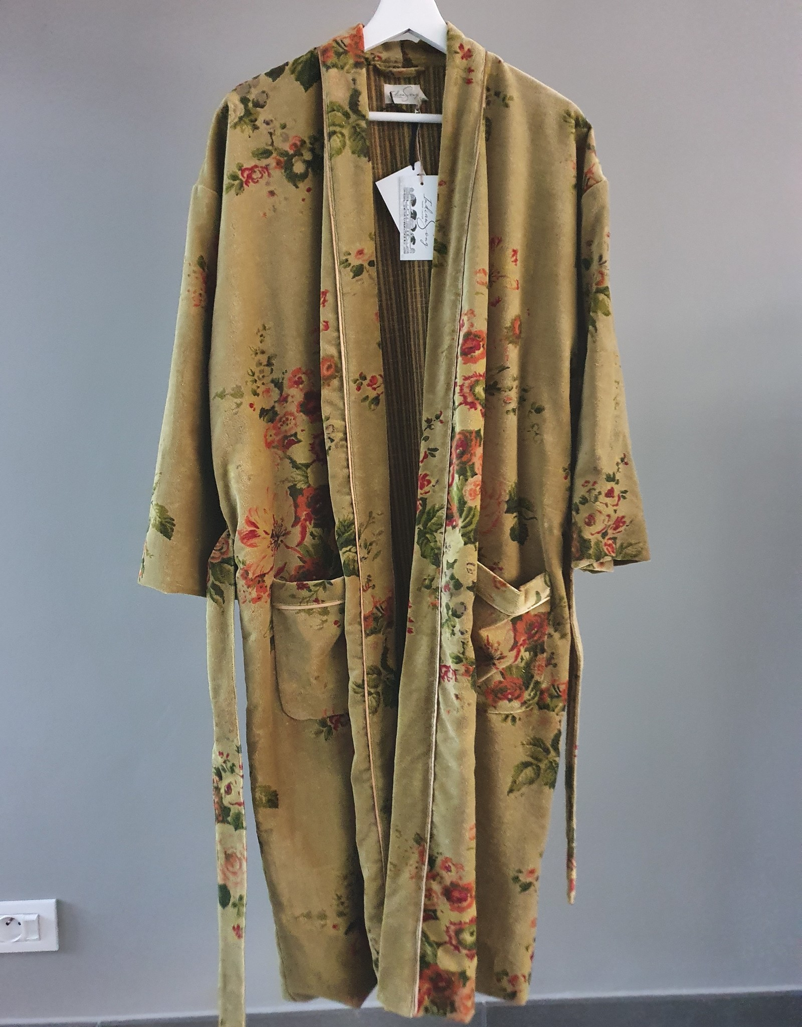 BANGALORE Kimono velours CURRY