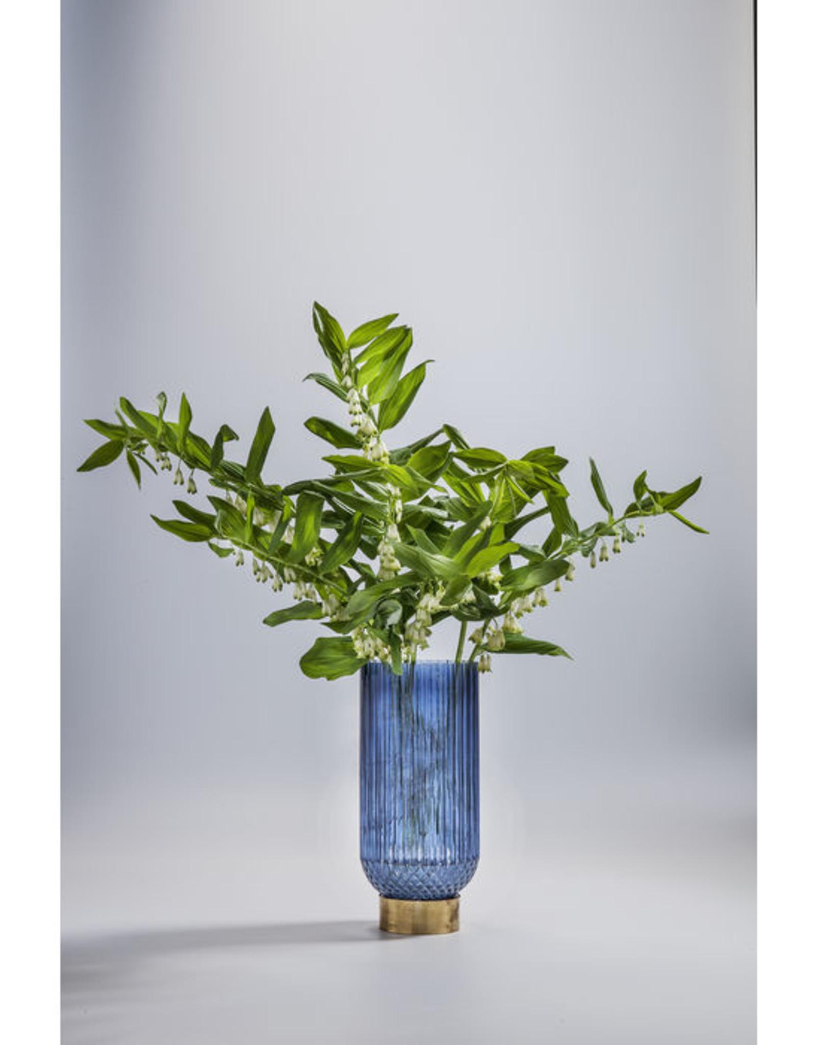 KARE DESIGN Vase Barfly Dark Blue 34cm