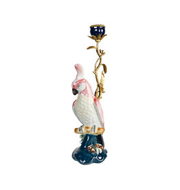 &Klevering Cockatoo candle holder brass