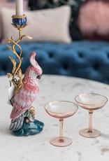 &Klevering Cockatoo candle holder brass