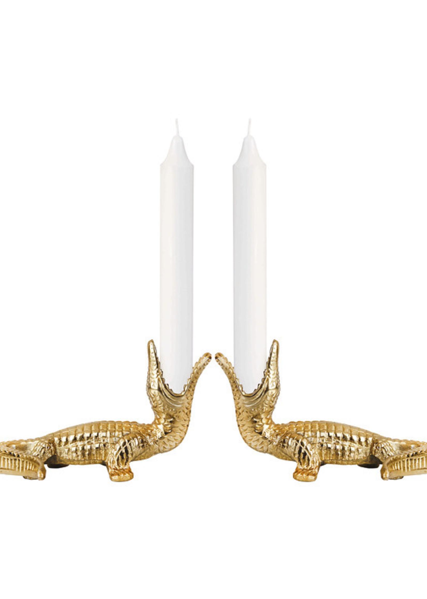 &Klevering Crocodile candle holder - links
