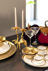 &Klevering Palm tree candle holder brass large