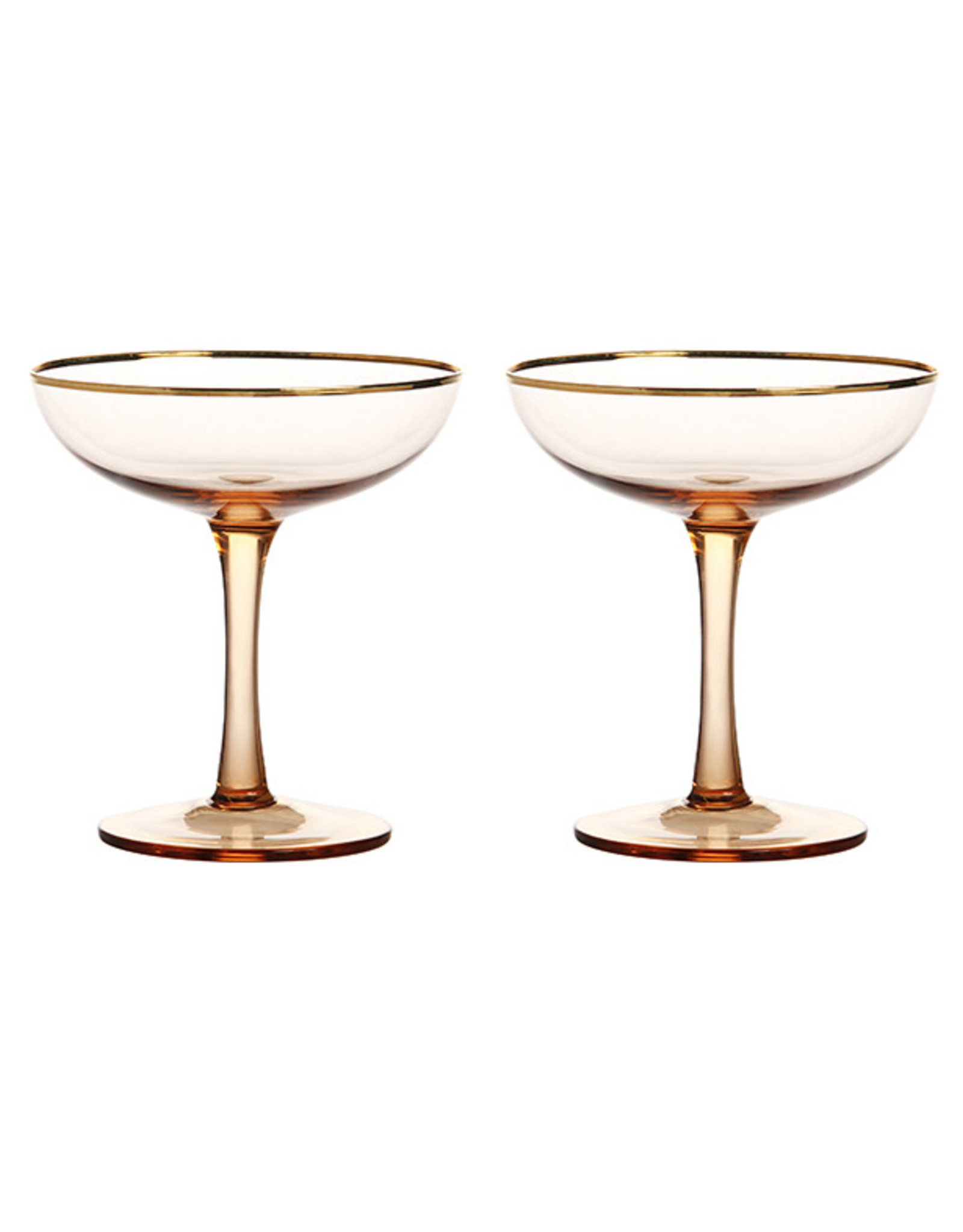 &Klevering Champagne coupe gold set of 2