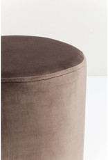KARE DESIGN Stool Cherry Brown Brass Ø35cm