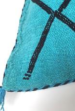 Marokkaanse 'cactus silk' kussen, handgemaakt