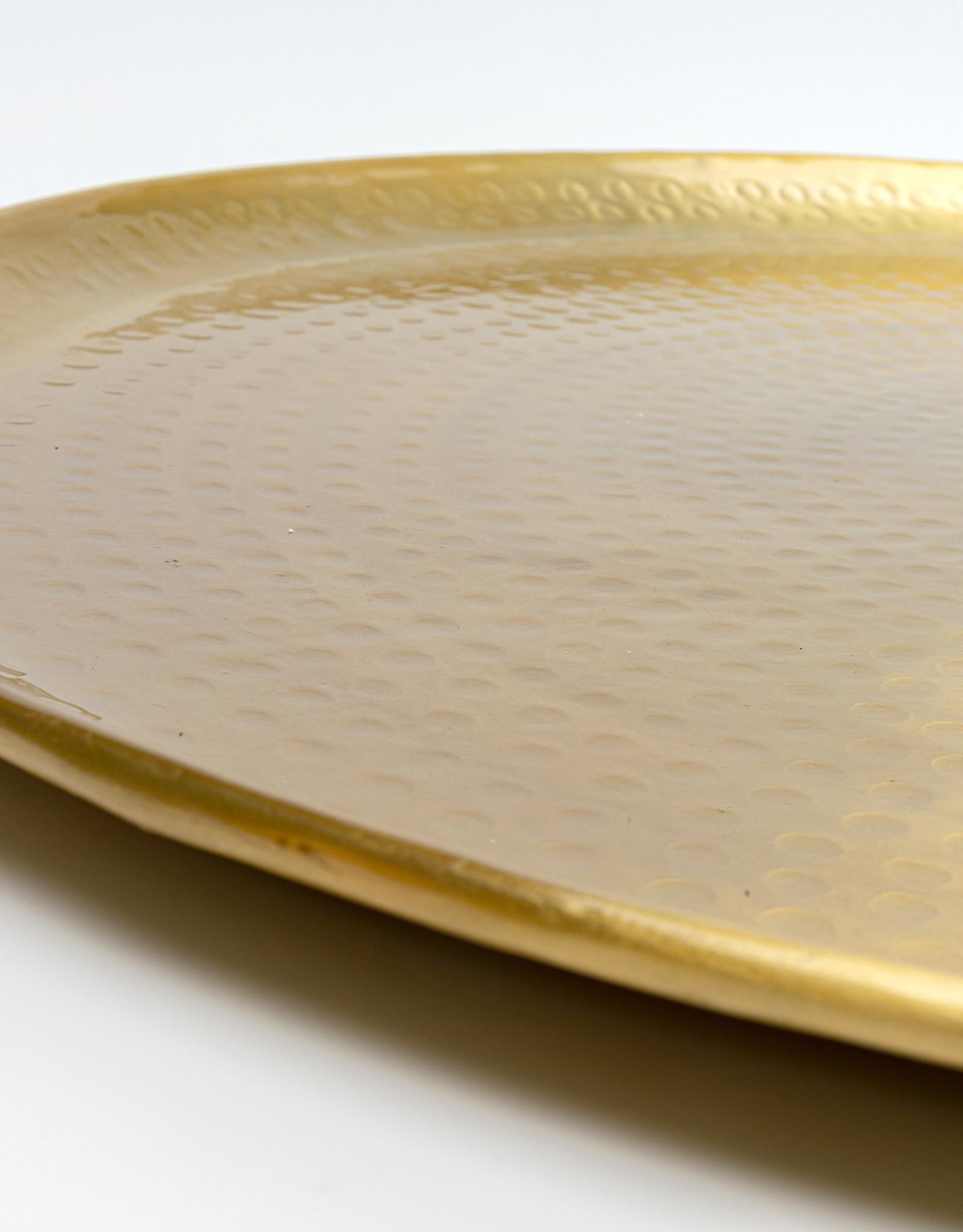 KARE DESIGN Tray Oasis Brass Ø55cm