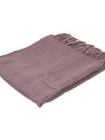 EIGHTMOOD Amber, plaid, 130x150, dusty pink, fringes