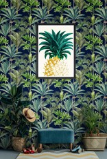MINDTHEGAP Designer Wallpaper PALMERAS Anthracite