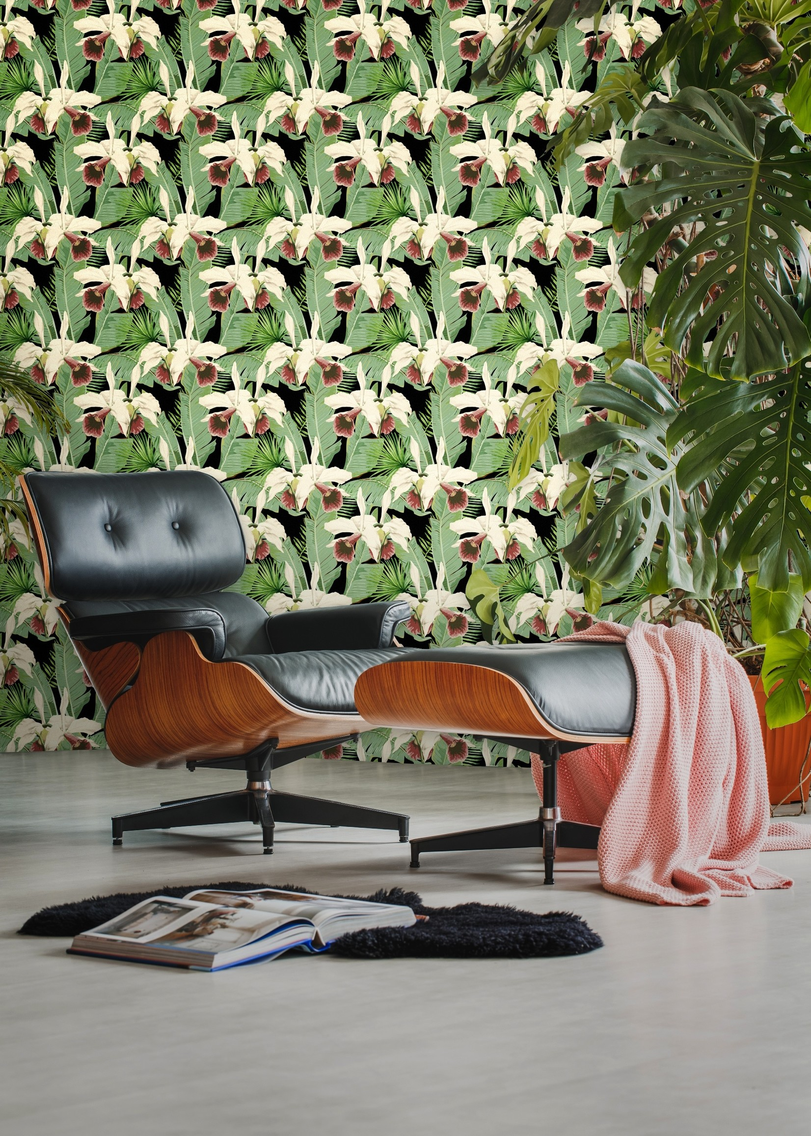 MINDTHEGAP Designer Wallpaper TREASURE ISLAND Anthracite