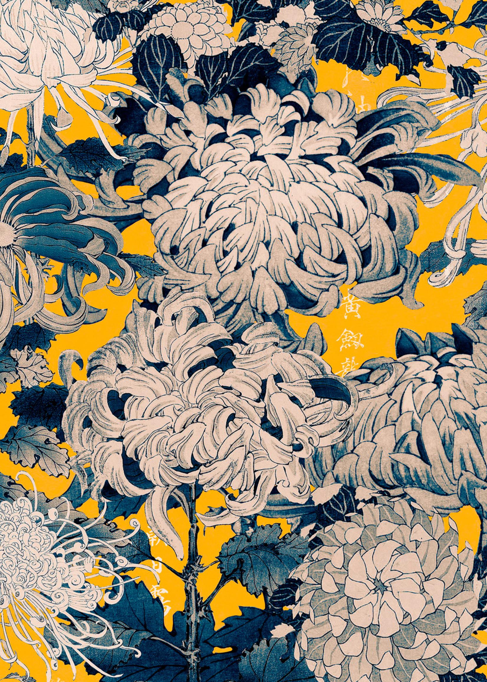 MINDTHEGAP Designer Wallpaper CHRYSANTHEMUMS