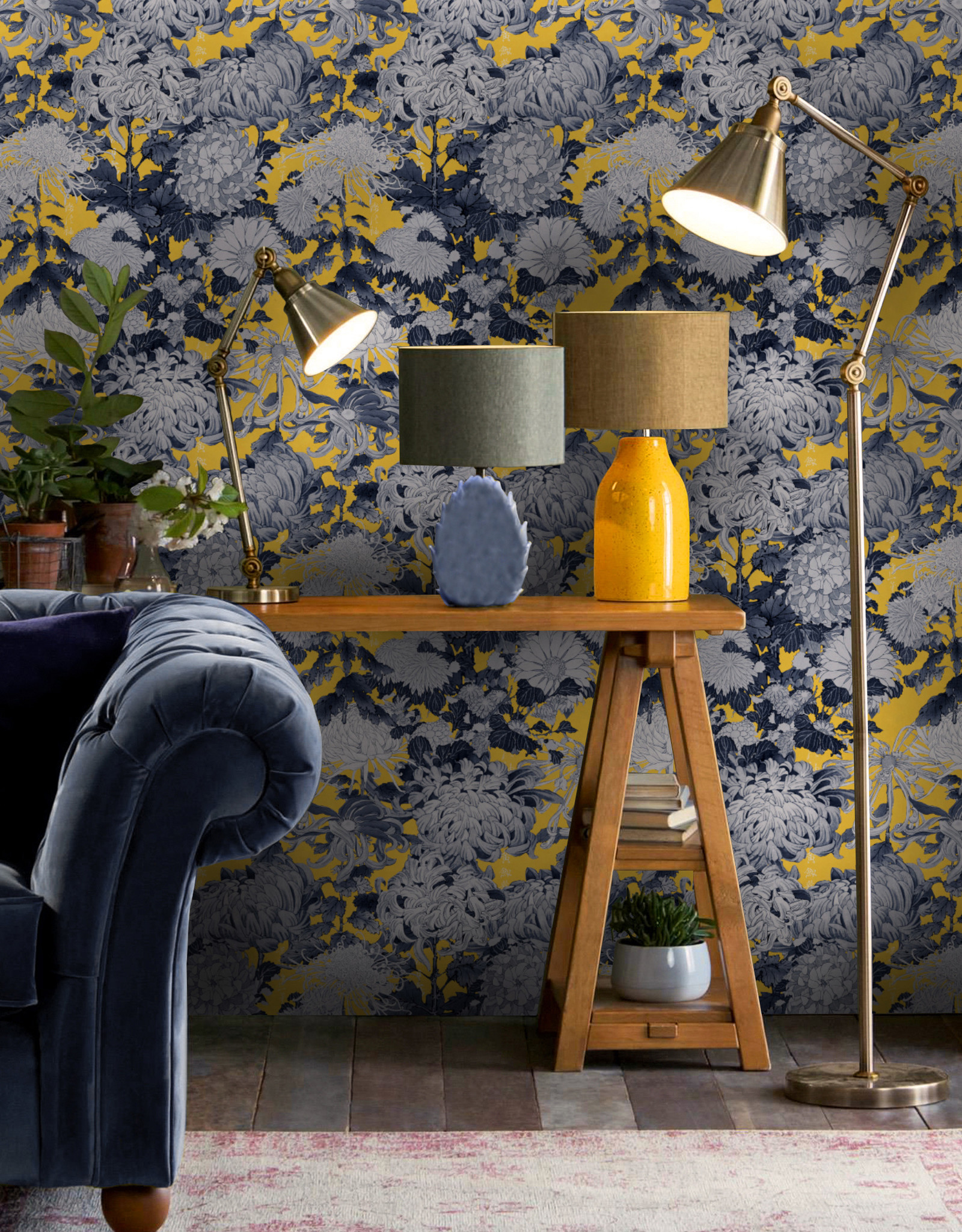 MINDTHEGAP Designer Wallpaper CHRYSANTHEMUMS